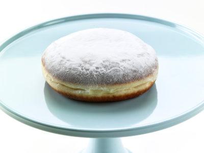 01269 Ντόνατς γέμιση σοκολάτα και επικάλυψη άχνη ζάχαρη