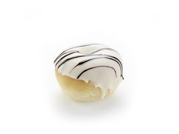 13172 Ντόνατς μίνι με επικάλυψη λευκή σοκολάτα
